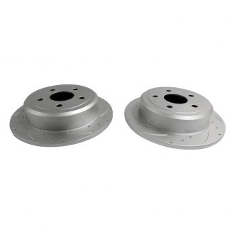 Crown® - Drilled and Slotted 1-Piece Front Brake Rotors