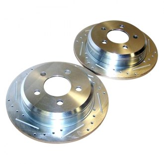 Crown® - Front Brake Rotor Set Drilled and Slotted