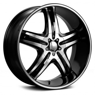 CRUISER ALLOY® - 908MB IMPULSE Gloss Black with Machined Face and Ring