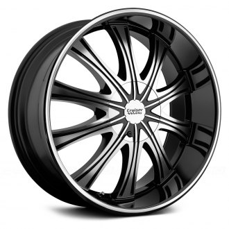 CRUISER ALLOY® - 911MB SLICE Gloss Black with Machined Face and Ring