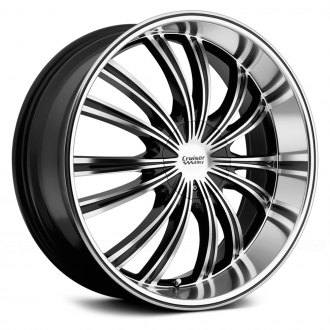 CRUISER ALLOY® - 912MB SHADOW Gloss Black with Machined Face and Ring