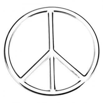 "Cruiser® - 3D-Cals ""Peace"" Chrome Emblem"