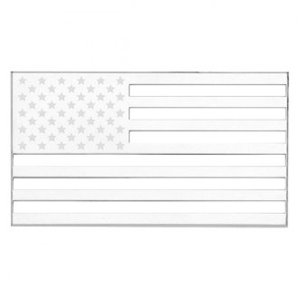 "Cruiser® - 3D-Cals ""American Flag"" Chrome Emblem"