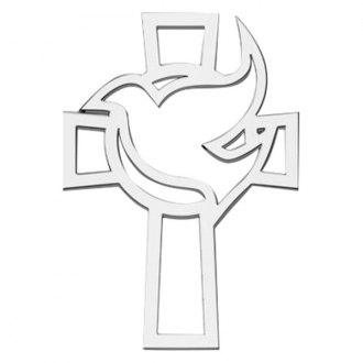 "Cruiser® - 3D-Cals ""Cross and Dove"" Chrome Emblem"