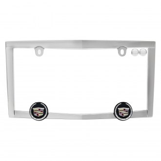 Cruiser® - Chrome License Plate Frame with Cadillac Logo