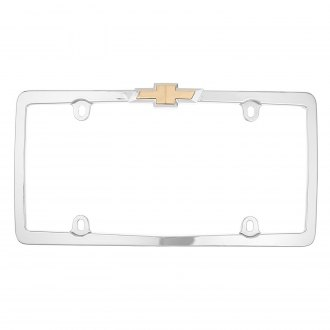 Cruiser® - Chevy Logo on Chrome License Frame