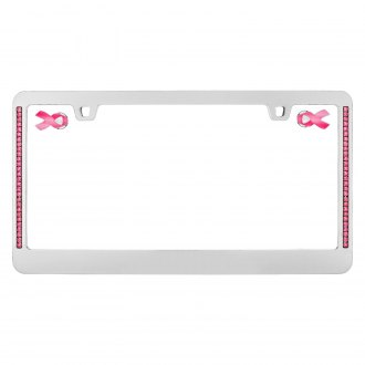 Cruiser® - Hope Chrome and Pink License Frame