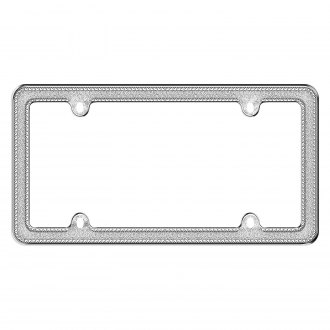 Cruiser® - Glitz Chrome/Silver License Frame