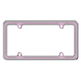 Cruiser® - Glitz Chrome/Pink License Frame