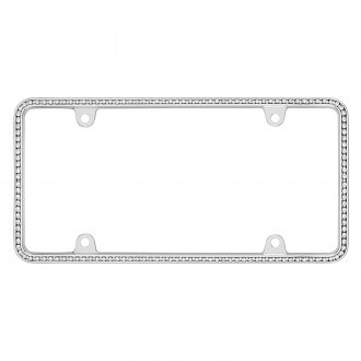 Cruiser® - Diamondesque Chrome/Clear License Frame