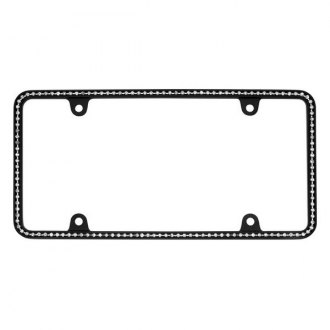 Cruiser® - Diamondesque Matte Black/Clear License Frame