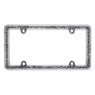 Cruiser® - Snow Leopard Bling License Frame