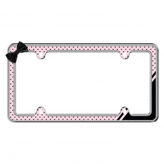 Cruiser® - Retro Polka Dot Bling License Frame