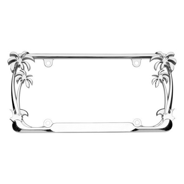 Cruiser® 19003 - Palm Tree Style Chrome License Plate Frame
