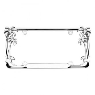 Cruiser® - Palm Tree Style Chrome License Plate Frame