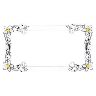 Cruiser® - Daisy Chrome License Frame