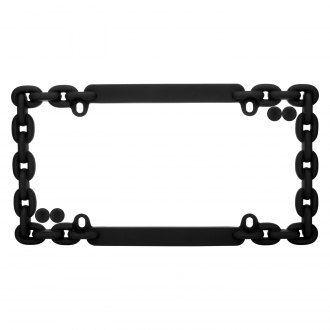 Cruiser® - Chain Flat Black License Frame with Fasteners Cap