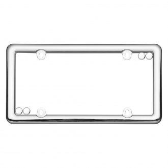Cruiser® - Nouveau Chrome License Frame with Fasteners Cap
