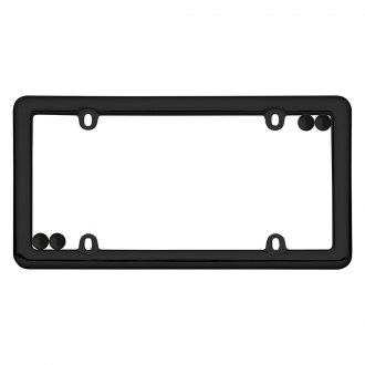 Cruiser® - Nouveau Black License Frame with Fasteners Cap