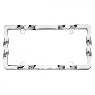 Cruiser® - Twist Style Chrome License Plate Frame