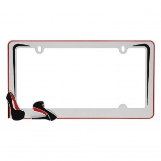 Cruiser® - Stiletto Style White License Plate Frame