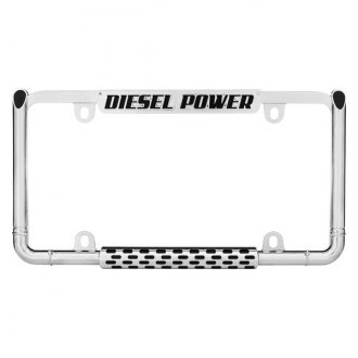 Cruiser® - Diesel Power Style Chrome License Plate Frame