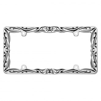 Cruiser® - Tribal II Style Black / Chrome License Plate Frame