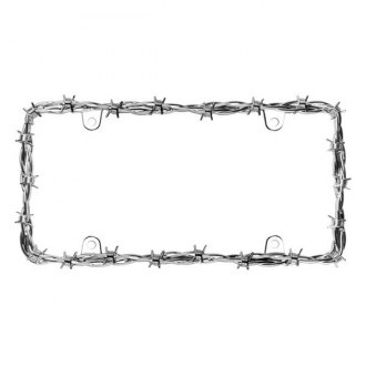 Cruiser® - Barbed Wire II Chrome License Frame