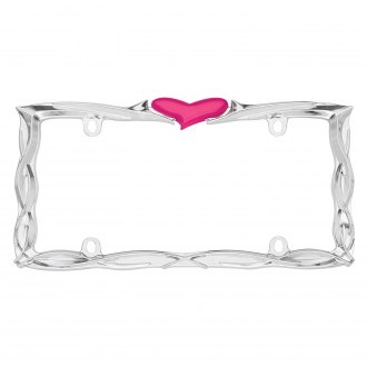 Cruiser® - Heart Chrome/Pink License Frame