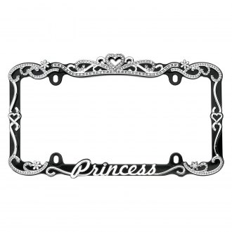 Cruiser® - Princess Style Black / Chrome License Plate Frame