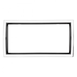 Cruiser® - Curve Chrome/Black License Frame