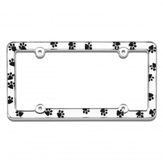 Cruiser® - Paws Style Chrome License Plate Frame