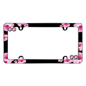 Cruiser® - Hibiscus Chrome License Frame