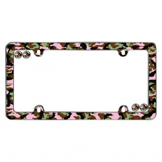 Cruiser® - Camo-Girl Chrome License Frame
