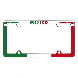 Cruiser® - Mexico Style Chrome License Plate Frame