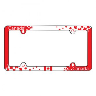 Cruiser® - Canada Maple Leaf Chrome License Frame