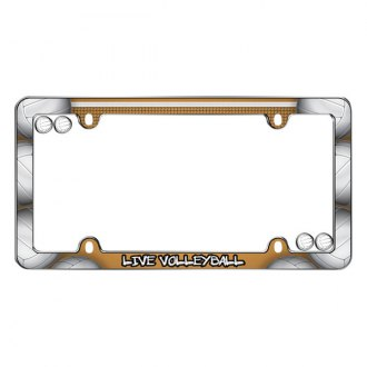 Cruiser® - Live Volleyball Logo on License Frame