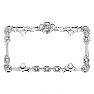 Cruiser® - Skull & Bone Style Chrome License Plate Frame