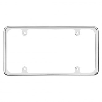 Cruiser® - Perimeter Style Chrome License Plate Frame