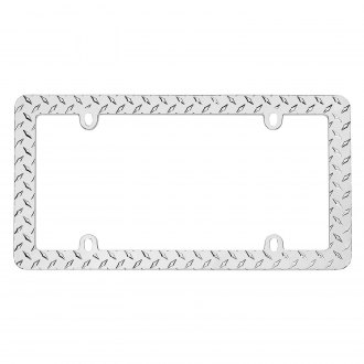 Cruiser® - Diamond Plate Chrome License Frame