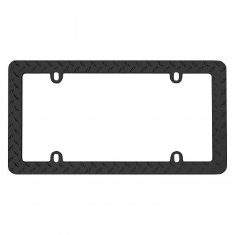 Cruiser® - Diamond Plate Matte Black License Frame