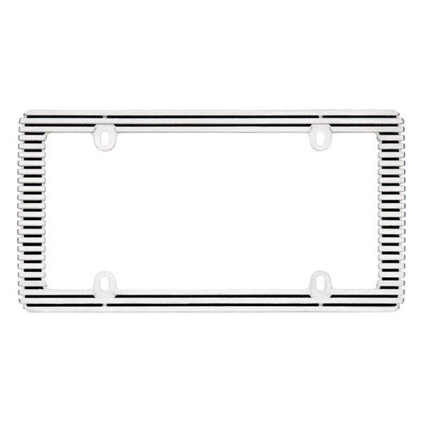 Cruiser® 58350 - Billet Style Black / Chrome License Plate Frame