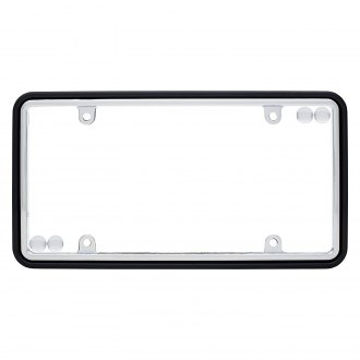 Cruiser® - Black / Chrome License Plate Frame with Fastener Caps