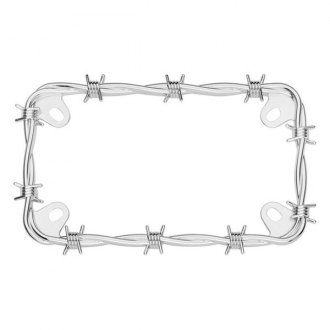 Cruiser® - Motorcycle Barbed Wire License Frame