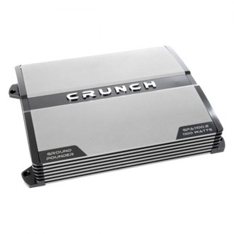 Crunch® - Ground Pounder Series Class AB 2-Channel 1100W Amplifier