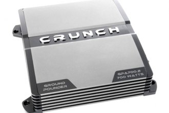 Crunch® - Ground Pounder Series Class AB 2-Channel 700W Amplifier