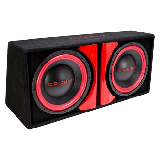 "Crunch® - 12"" Dual Sealed Powered 800W Subwoofer Enclosure"