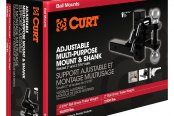 "CURT® - Class 5 Adjustable Multi-Purpose Ball with Shank for 2"" Receivers"