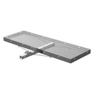 "CURT® - Silver Aluminum Tray Cargo Carrier with Folding Shank for 2"" Receivers"