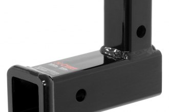 CURT® - Vertical Gloss Black Powdercoated Receiver Adapter